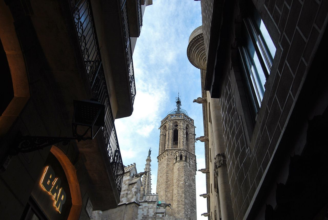 Building Exterior Architecture Built Structure Low Angle View Sky Religion No People City Outdoors Place Of Worship Day Street Photography Streetphotography Cityscapes Barcelona City From My Point Of View