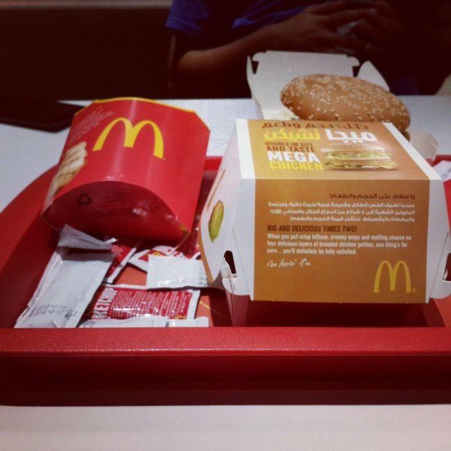 Dinner treat from @farhan_aslam143 😀 MegaMac Mcdonalds