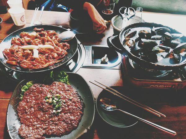 명동 알쌈쭈꾸미.맛집 인정! Korean Food
