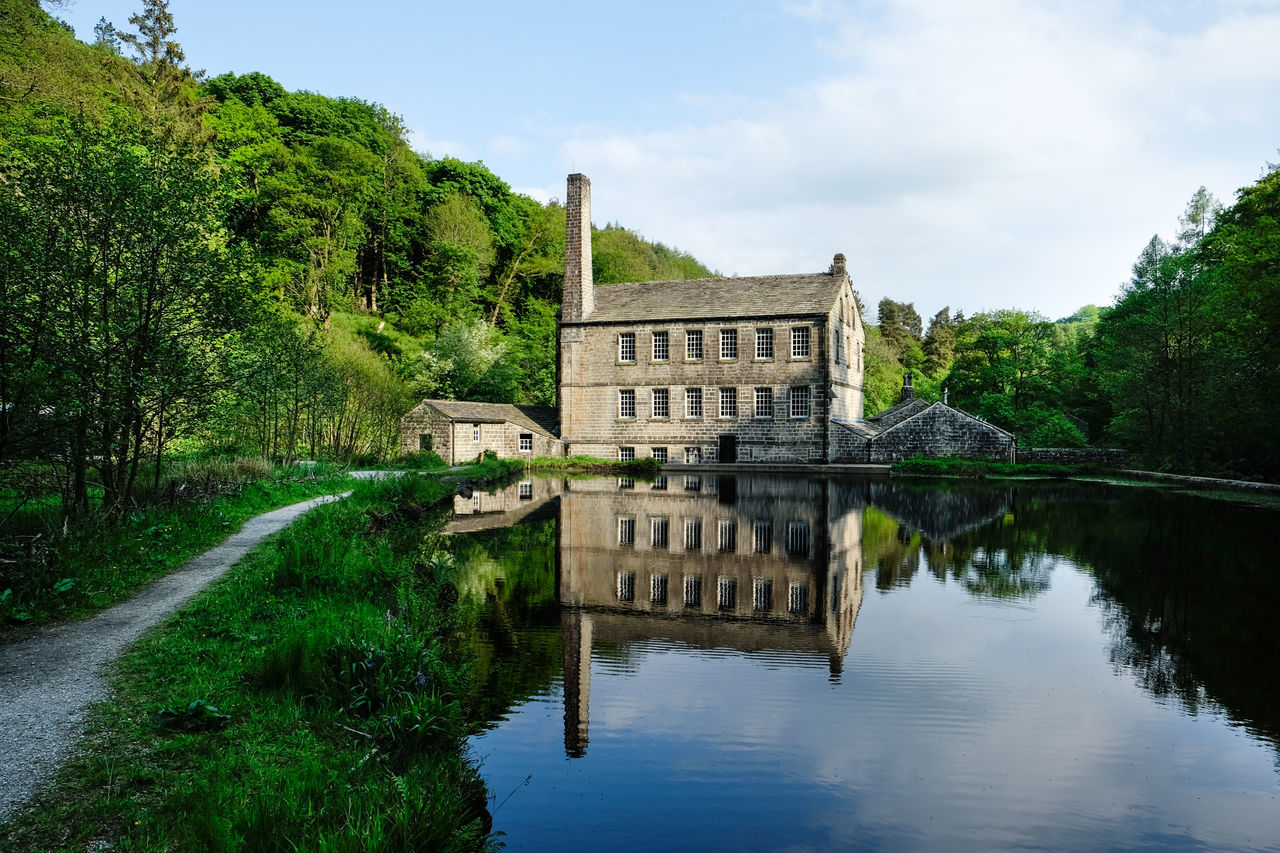 Reflection of Gibson Mill at Hardcastle Crags, West Yorkshire Architecture Architecture Beauty In Nature Building Reflections Day Lake Mill Nature No People Outdoors Reflection Sky Travel Destinations Tree Water Industrial Industrial Landscapes Industry