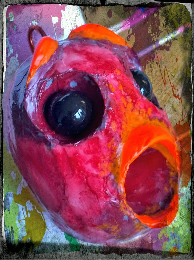 Art Sculptures Scary Dolls Scary Stuff  Extreme Close-up Mixedmedia Paintings Scary Face Dolls Head Mixed Media