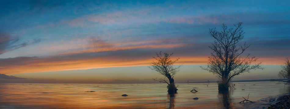 Game Of Thrones Lake Lakeshore Lakeside Lonely Trees Lough Panorama Relections Sky And Clouds Sunset Trees Water Water Reflections