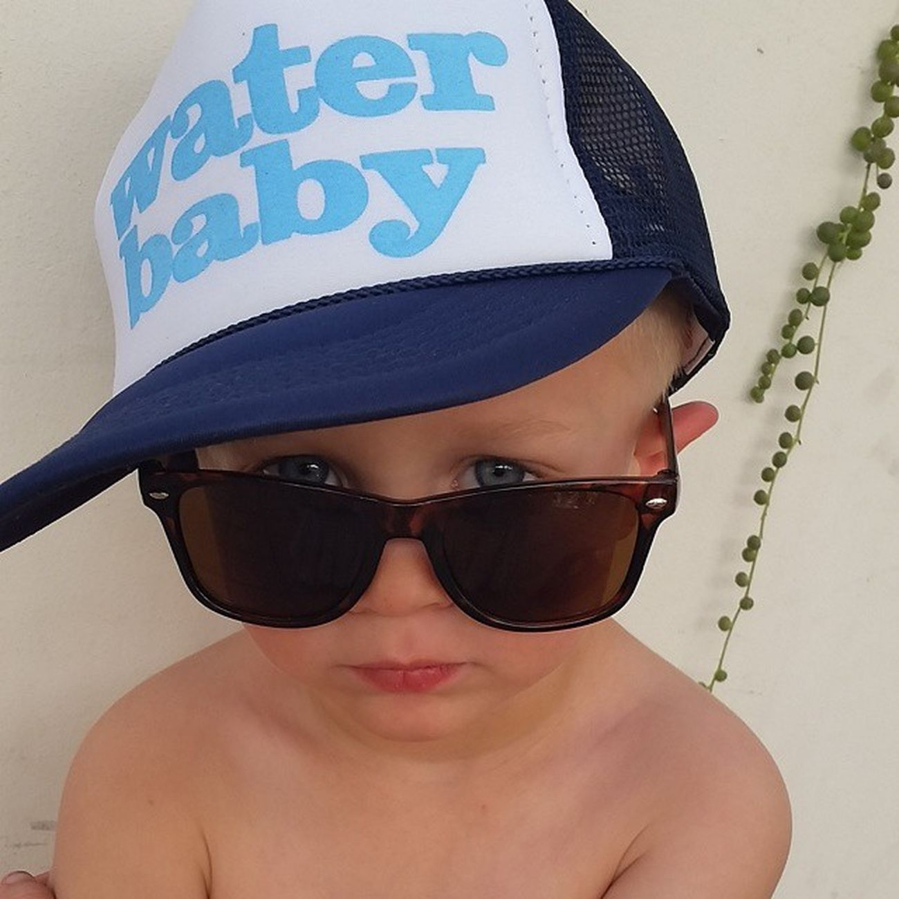 Lovin my little guy in his water baby hat and bray-bans from @myhellions! Stylishkids Cutekids Kidstyle Ig_kids
