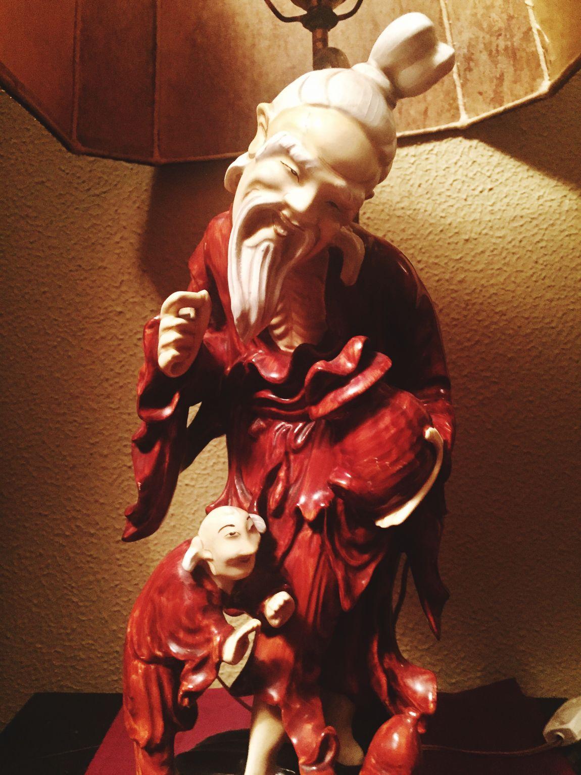 Decorative Foot Of Lamp Japanese Fisherman Japanese Porcelaine Decoration Antiquities