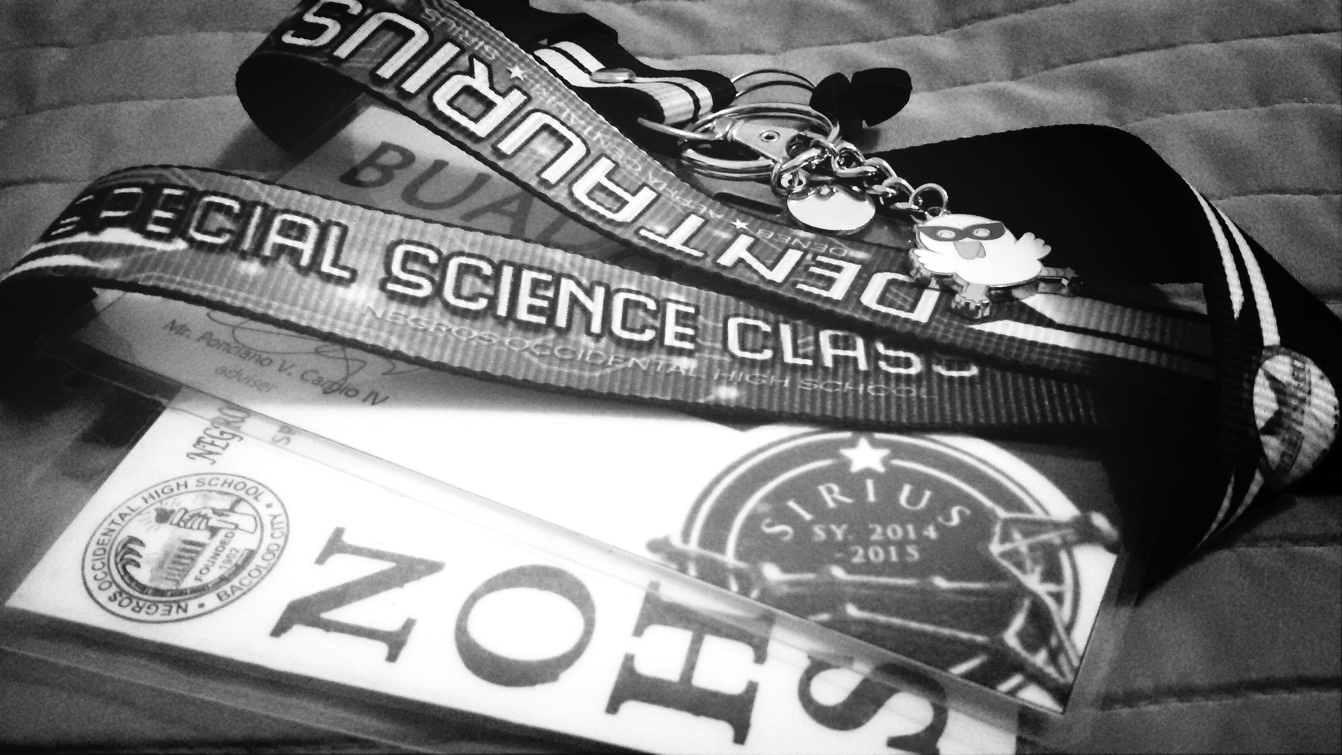 Four years of struggling, a something worth proud of... Special Science Class throughout the highschool years ^_^... I.D. Lanyard Senior