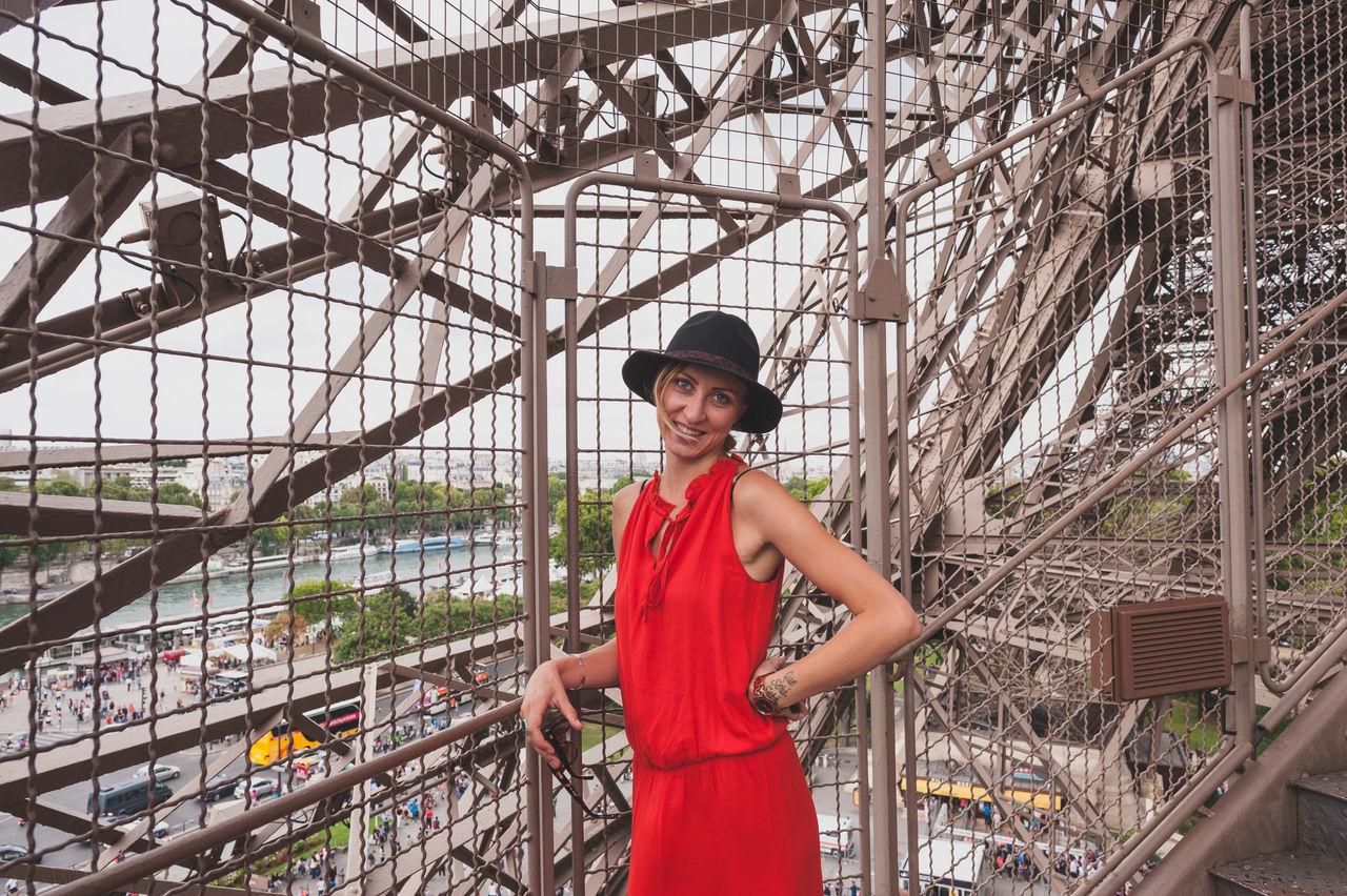 Beautiful stock photos of eiffel tower, 25-29 Years, Architectural Feature, Architecture, Beautiful Woman