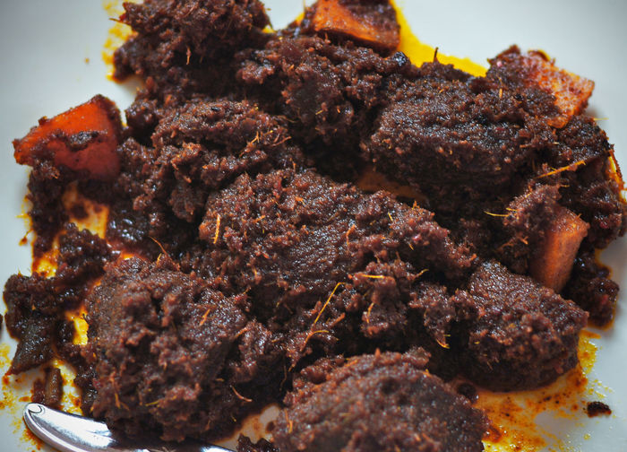 Rendang, Original Cuisine from Indonesia Close-up Cuisine Cullinary Deep Fried  Food Food And Drink Freshness Indoors  No People Plate Ready-to-eat Rendang Rendangdaging Rendangminang Rib Serving Size Traditional