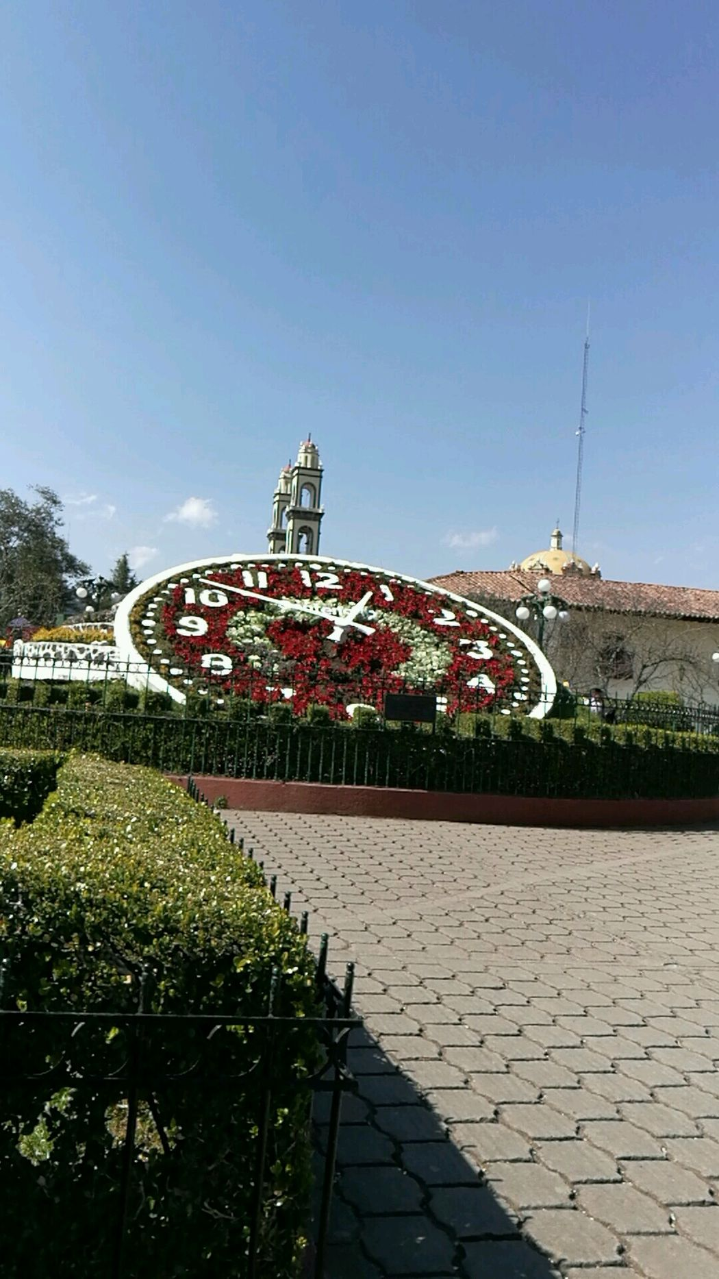 Travel Destinations City Outdoors Sky No People Day Amusement Park Architecture Cityscape Track And Field Big Clock Zacatlán Puebla México