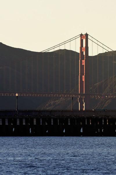 Golden Gate Bridge Architecture Bridge Bridge - Man Made Structure Built Structure City Clear Sky Connection Day Engineering Nature No People Outdoors River Sky Suspension Bridge Transportation Water