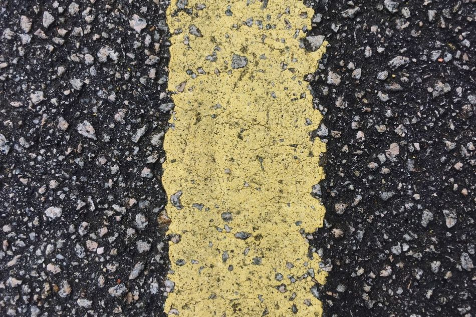 Yellow Asphalt Textured  Full Frame Backgrounds No People Road High Angle View Day Outdoors Close-up Transportation Nature Fragility Freshness Tarmac Textures And Surfaces Textured