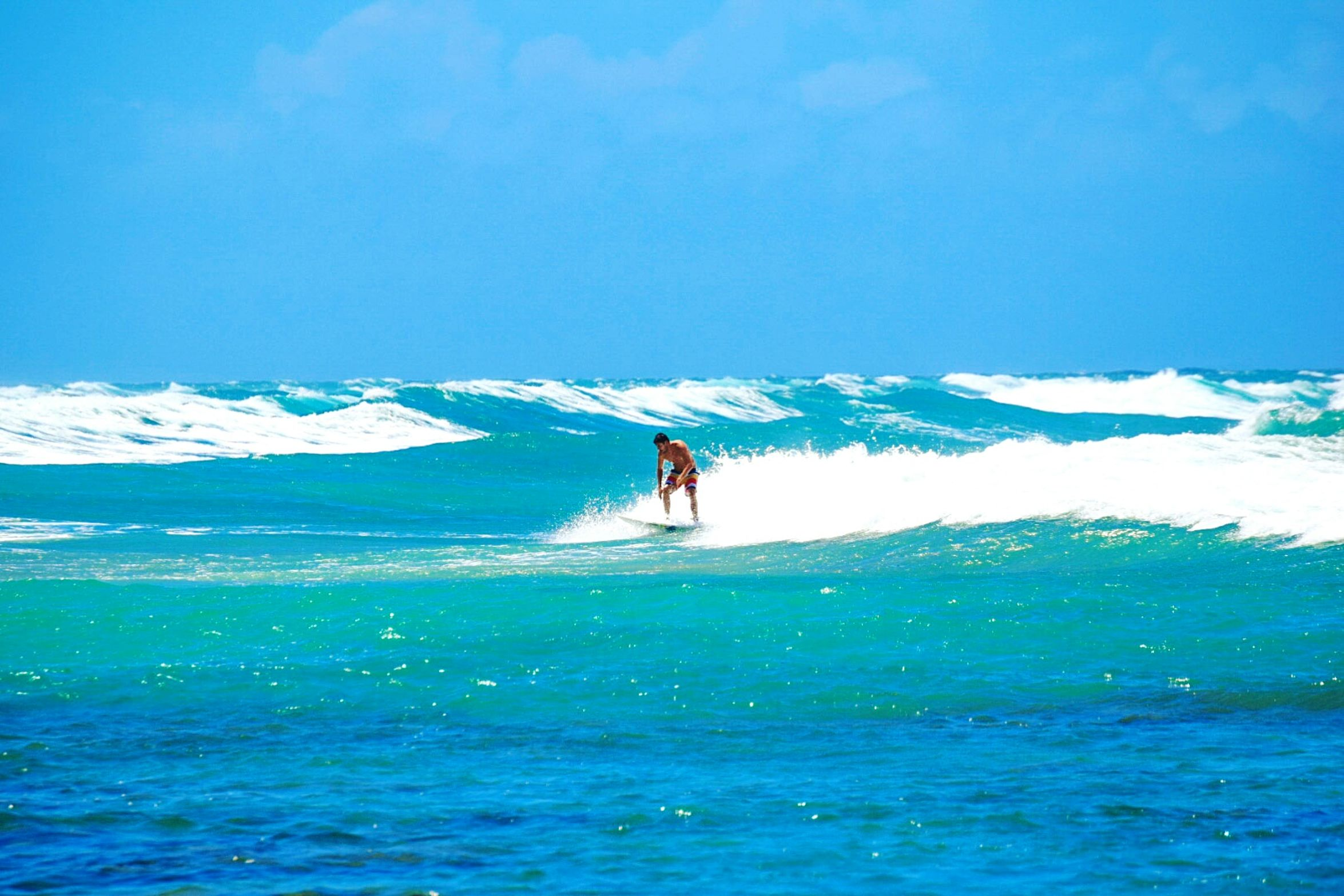 Where everything is a Blue Wave but the Whitecaps and Surfers. Sunburn Surfing Surfs Up Puerto Rico Beachphotography Beach La Playa Ocean Peace And Tranquility Blue Storm Hurricane 2015 8 Foot Waves Nikonphotography Bluesky Talent Paradise Paradise Beach Vacation Escaping