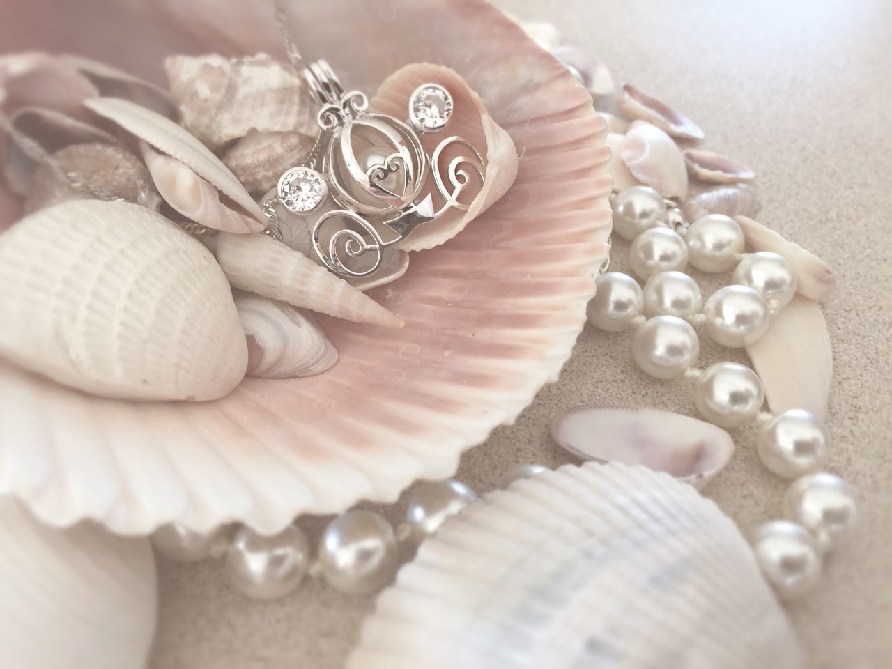 Close-up Cropped Design Focus On Foreground Jewellery Jewelry Lifestyles Part Of Pearls Ring Selective Focus Shells Still Life