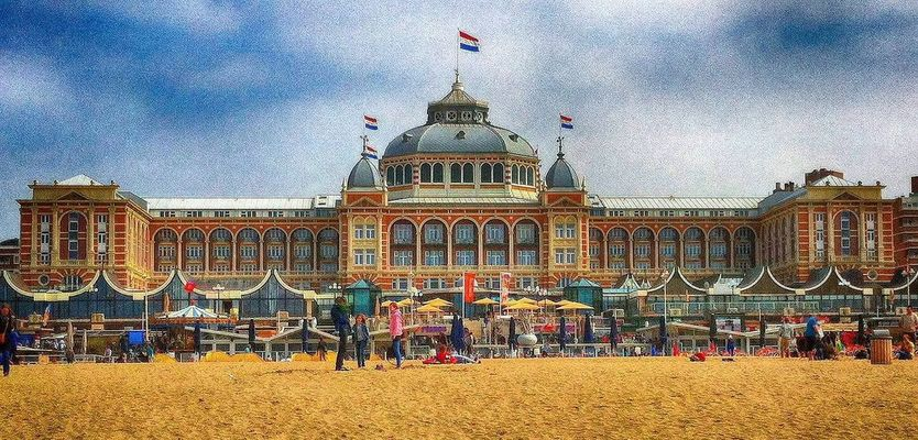 Kurhaus  Hotel at Scheveningen by Jan Leegwater