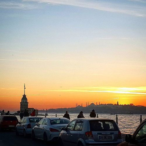 Maiden_Tower Kizkulesi Turkey Türkiye Travel Journey Comeseeturkey Historical History Istanbul Life Enjoy Relaxing Sunset Evening Sky Skyporn Cloudporn Clouds Cloud Instalike Instagram Instagood An_evening