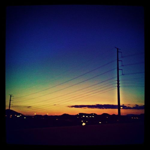 @arizonaskies Azsunsets @sunsetsgram Driving Arizonahighways Powerlines Citylifeinaz Silhouette Asthesungoesdown Overthisbusy Phxtown The51N Skyline Skyporn Colorful Phoenixaz Peaceful Awesomesunsets Instagramaz Igersphx Igersonly Instadesert Instagramhub :)
