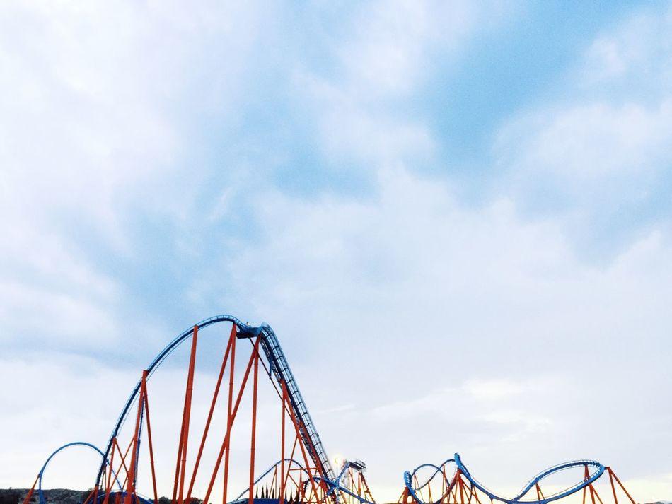 Beautiful stock photos of roller coaster, Adventure, Amusement Park, Arts Culture And Entertainment, Blue