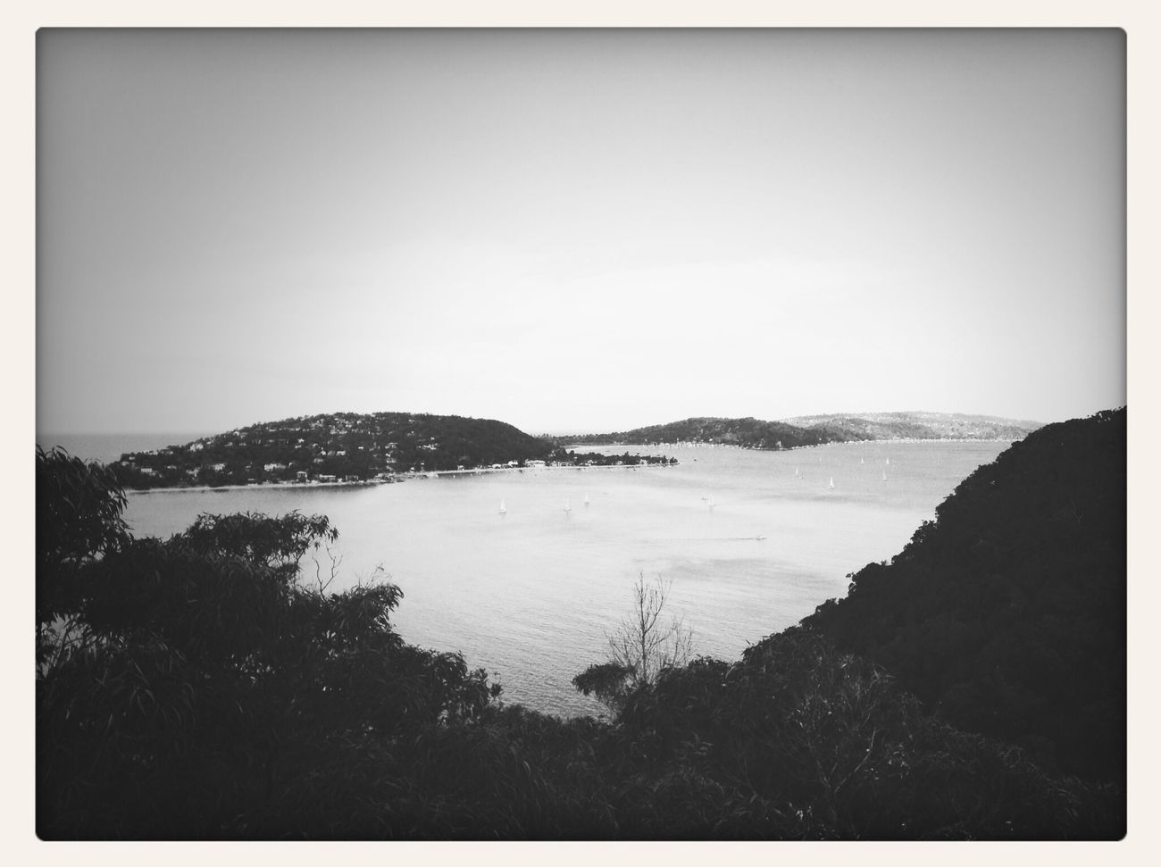 Headland Ocean Ocean View Blac&white  First Eyeem Photo