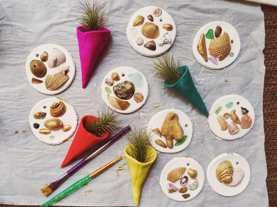Christmas Decorations Island Christmas Sea Shells Craft DIY 43 Golden Moments The Culture Of The Holidays