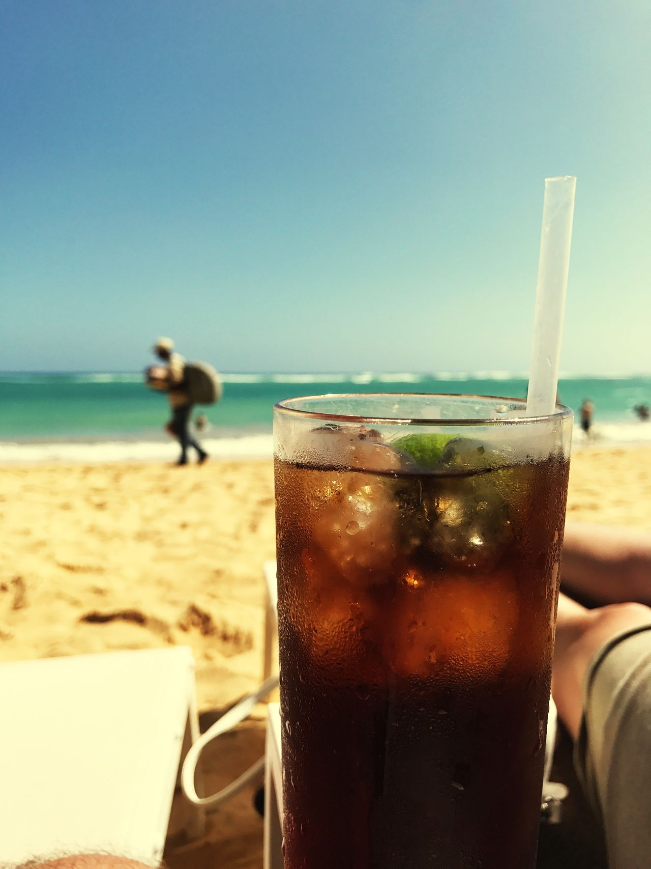 Sea Beach Drink Clear Sky Refreshment Beachlife Food And Drink Sand Sky Horizon Over Water Nature Outdoors Day Vacations Water Men One Person Freshness Close-up