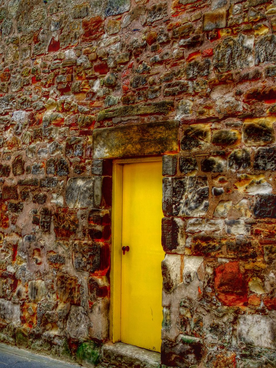 architecture, built structure, door, no people, building exterior, yellow, day, outdoors