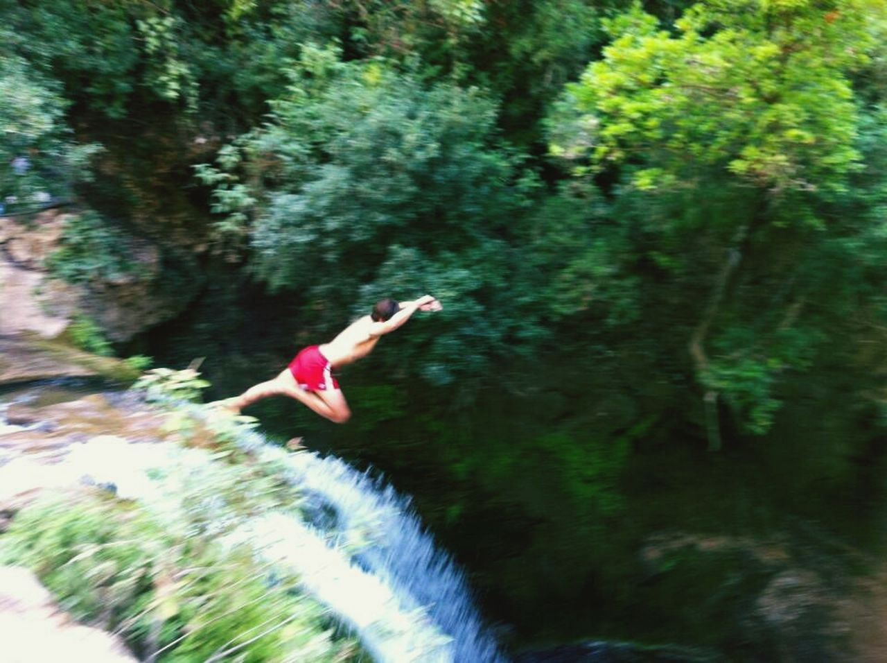 Morocco Mountains Waterfall Crazy Jump CliffJumping Memories First Eyeem Photo