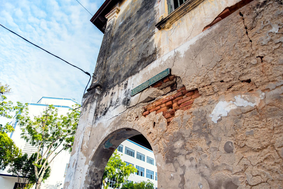 Penang haritage scene. Architecture Beauty Broken Building Exterior Day Heritage History History Through The Lens  Low Angle View Malaysia No People Old Outdoors Penang Sky Wall