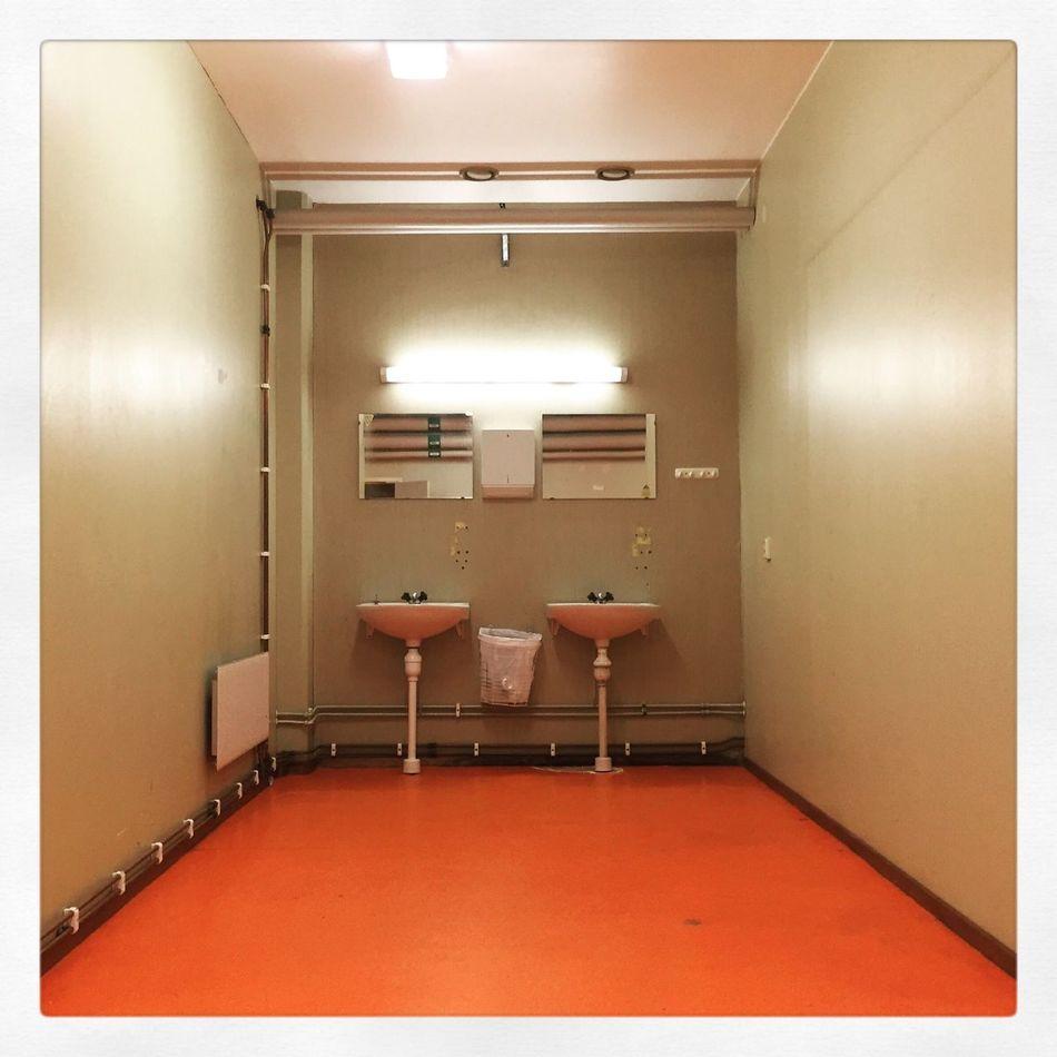 Beautifully Organized Are You Shining? Indoors  Illuminated Empty Sinks Unsettling Scary