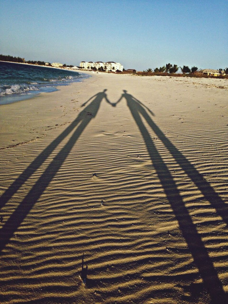 Beautiful stock photos of couples, Beach, Bonding, Clear Sky, Copy Space
