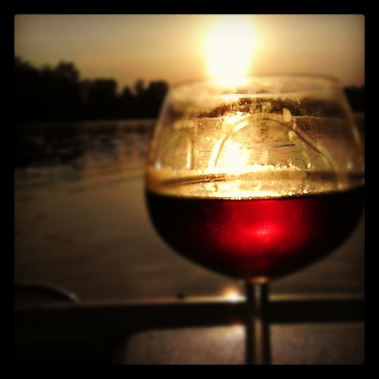 alcohol, close-up, wine, drink, refreshment, no people, wineglass, alcoholic drink, sunset, drinking glass, focus on foreground, food and drink, outdoors, water, night, nature, sky, freshness