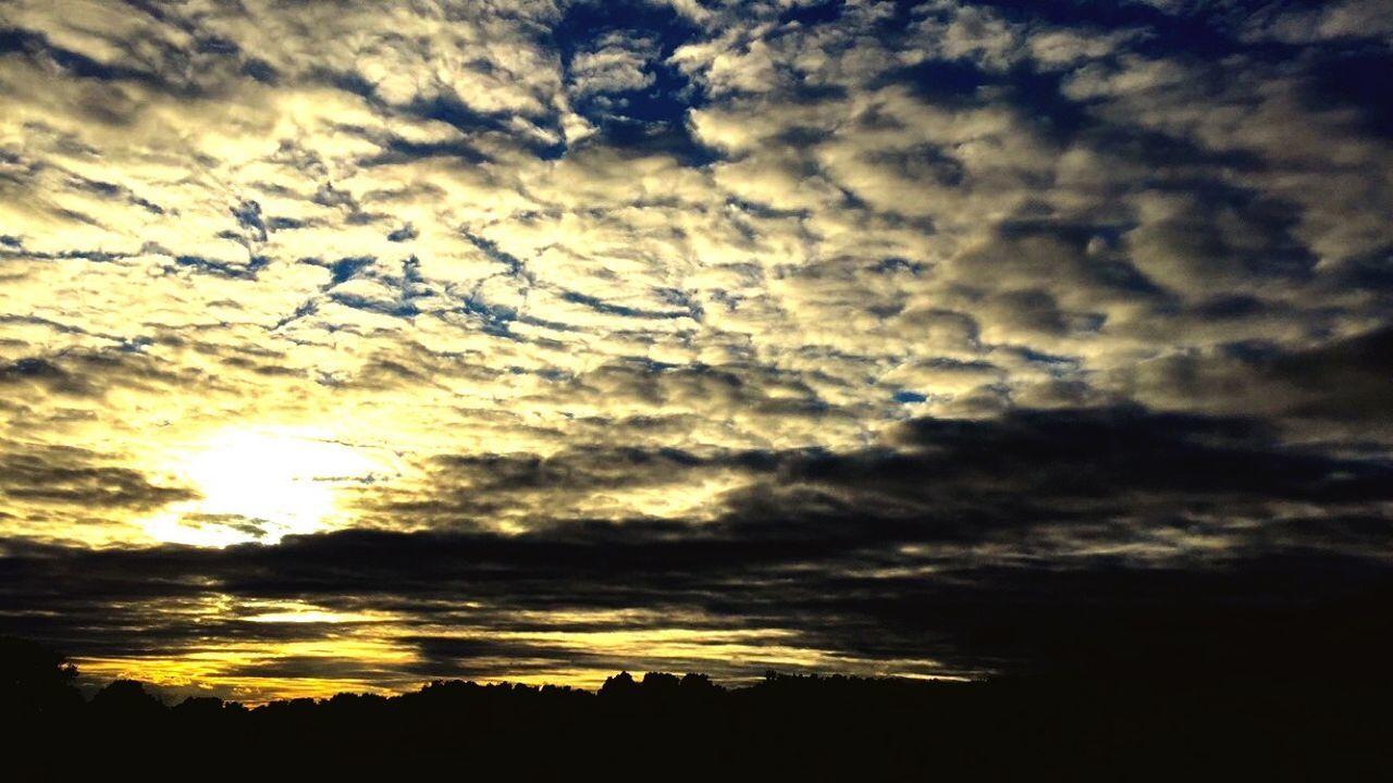 Atmosphere Beauty In Nature Cloud Cloud - Sky Cloudscape Cloudy Dark Dramatic Sky Idyllic Landscape Majestic Moody Sky Nature No People Orange Color Outdoors Scenics Sky Sun Sunbeam Sunlight Sunset Tranquil Scene Tranquility Weather