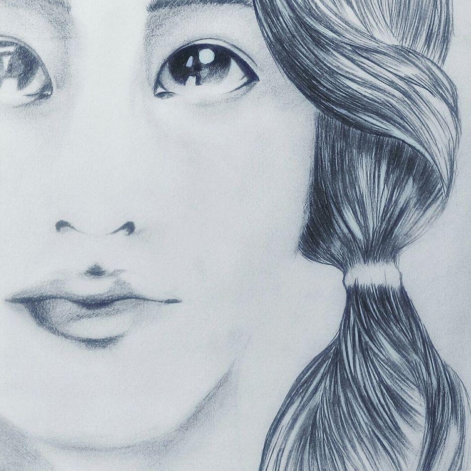 Enjoy sunday Portrait Enjoying Life Hand Drawing Sketch Iu