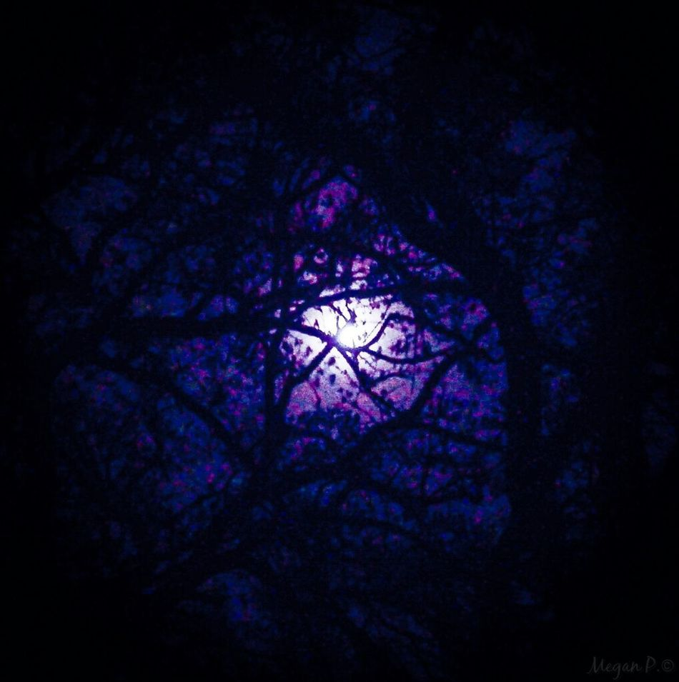 The full moon created a purple glow through the clouds. Purple Skies Moonlight Purple Moon Cloudy Night Sky