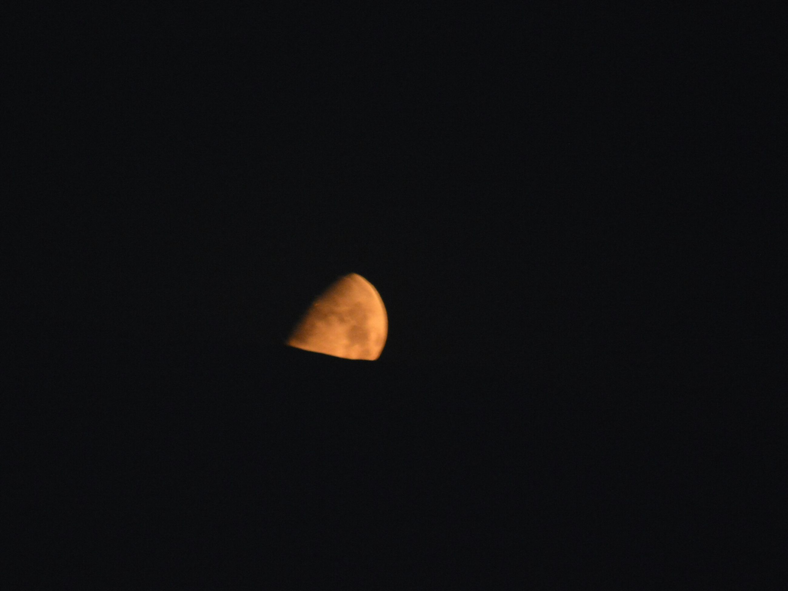 moon, astronomy, beauty in nature, night, nature, planetary moon, copy space, scenics, moon surface, tranquility, tranquil scene, half moon, space, no people, low angle view, space exploration, outdoors, sky, clear sky, crescent