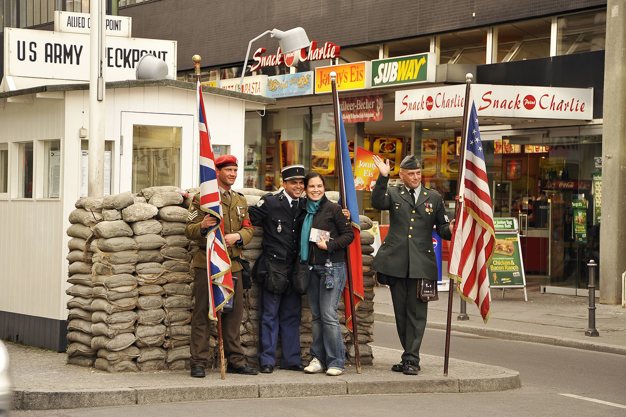 Berlin Berlino Germany Checkpointcharlie Checkpoint Charlie  Street Sunny Day Outdoor Photography Outdoors Daylight People Capture Berlin