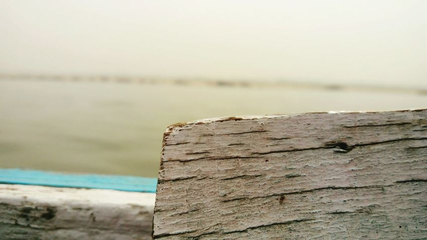 Simple Nature Wood Plank Sea Boat Blur Phone Lines Abstract