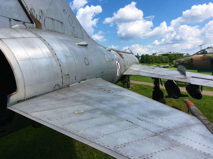 Airplane Cloud - Sky Cold War Cold War Relic Day Fighter Jet Fighter Plane Jet Engine Migs Nature No People Nose Outdoors Polish Airforce Polish Military Russian Aircraft Russian Airforces Russian Military Sky War Planes Winged Wings Wingspan