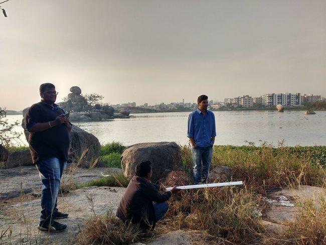 Taking Photos Short Film Shooting Acting Friend Morning Lake
