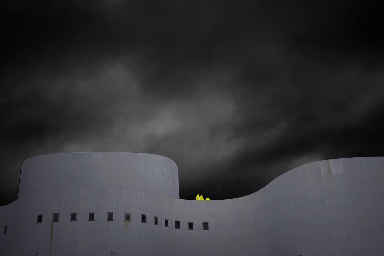 Built Structure Architecture Sky Building Exterior Outdoors Cloud - Sky Smoke - Physical Structure Silhouette No People Cooling Tower Nature Night