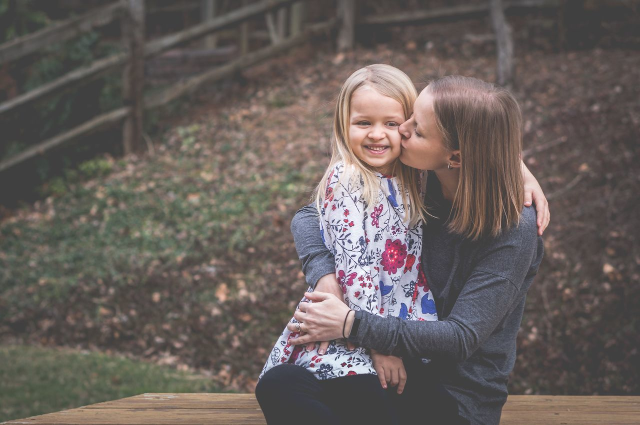 Mother Daughter Family Love Hugs Childhood Child Portrait Two People Togetherness Bonding Happiness People Outdoors