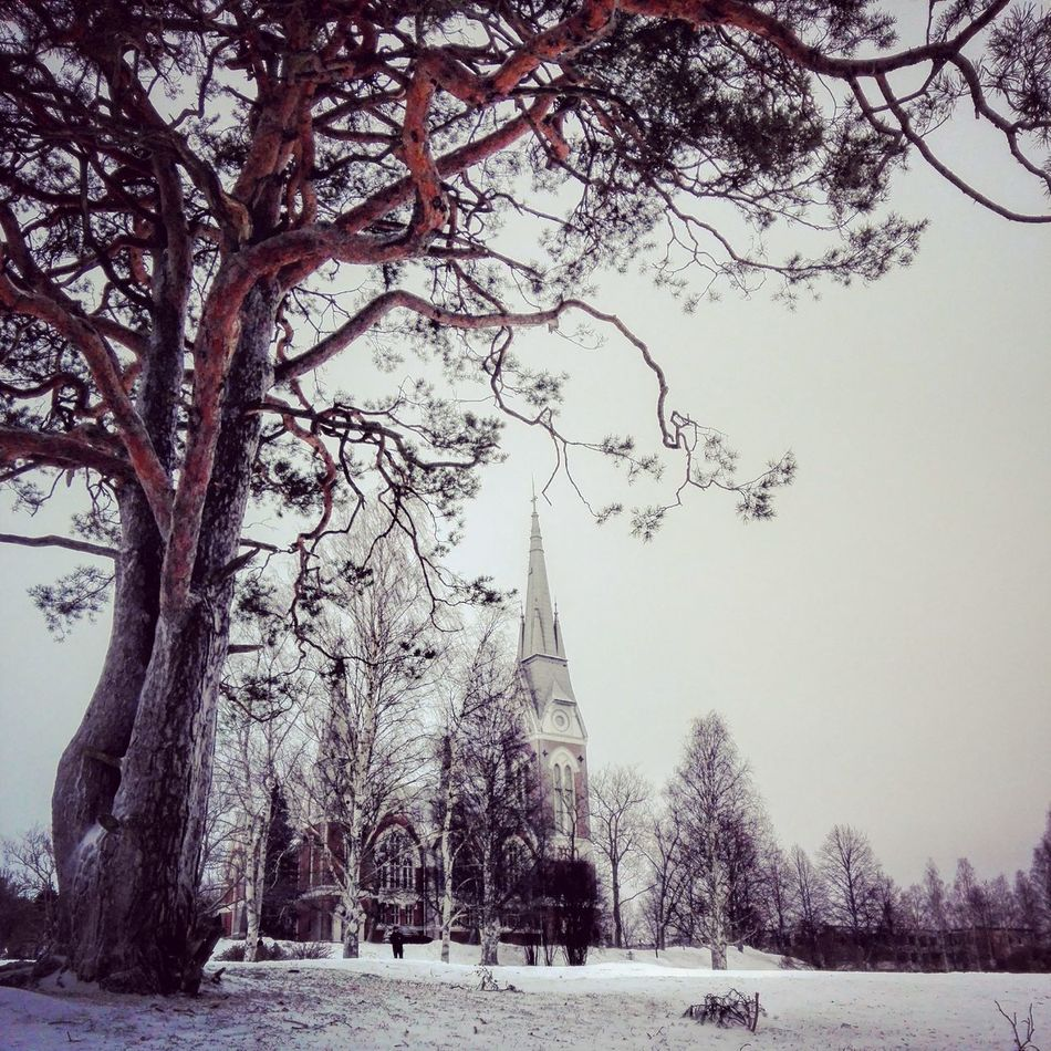 Church Tree Winter Cold Temperature Snow Outdoors Beauty In Nature Photography Nature Photography Photographer Colorful Daytime Landscape_photography Winter Landscape Snow ❄ Wintertime Winterwonderland Finnish Nature Cloudscape Weather Naturelovers Naturebeauty