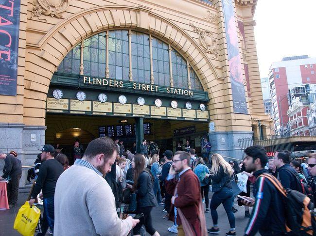 Flinders St #Melbourne Flinders Street Station Crowd Train Station People Australia Leica