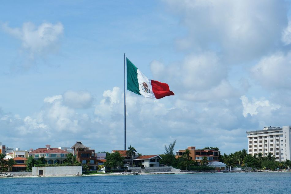Beautiful stock photos of mexican flag, Architecture, Building Exterior, Built Structure, Cloud - Sky
