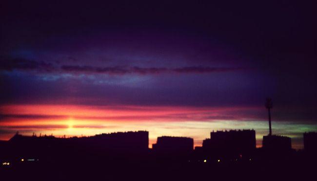 Sunset #sun #clouds #skylovers #sky #nature #beautifulinnature #naturalbeauty #photography #landscape Beautiful Sunset City At Night Lovely <3 <3 <3 wczorajszy zachód był taki piękny :3
