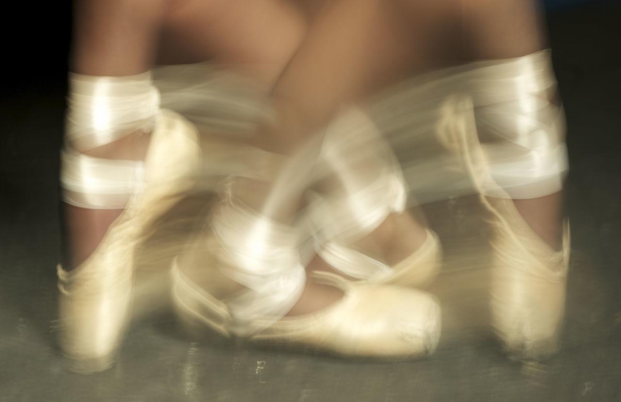 Art Ballet Ballet Dancer Blurred Motion Close-up Is It Real? Motion Strength