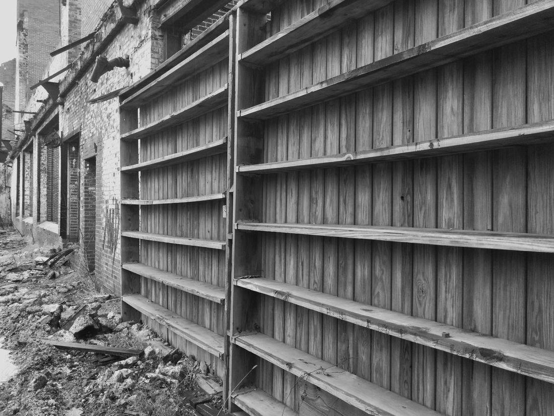 Abadoned Building Shelves