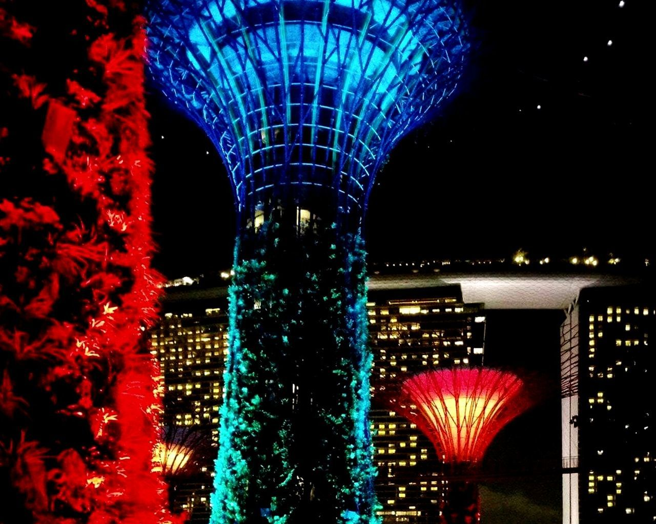 illuminated, night, architecture, celebration, no people, built structure, building exterior, outdoors, city, sky