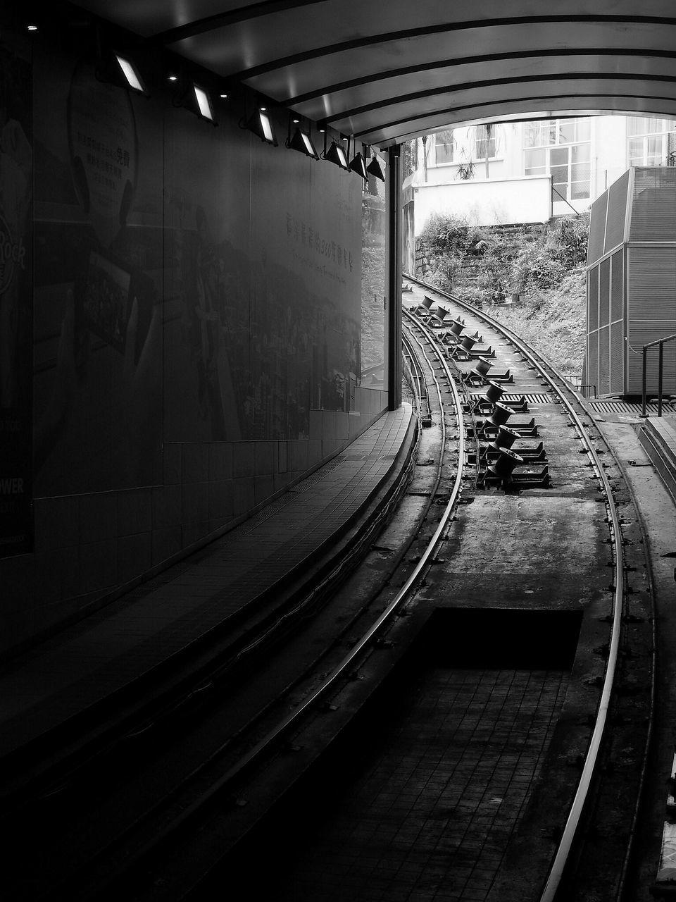 transportation, rail transportation, railroad track, public transportation, architecture, built structure, no people, day, outdoors