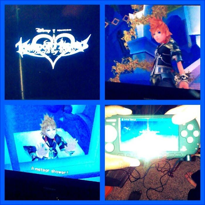 Sean and I got the #PSP hooked up to the tv. Time for #kingdomhearts #birthbysleep! Disney Gamer PSP Videogames Kingdomhearts Wtfgamersonly Playstationportable Birthbysleep Sonypsp Wtfgo Keyblade