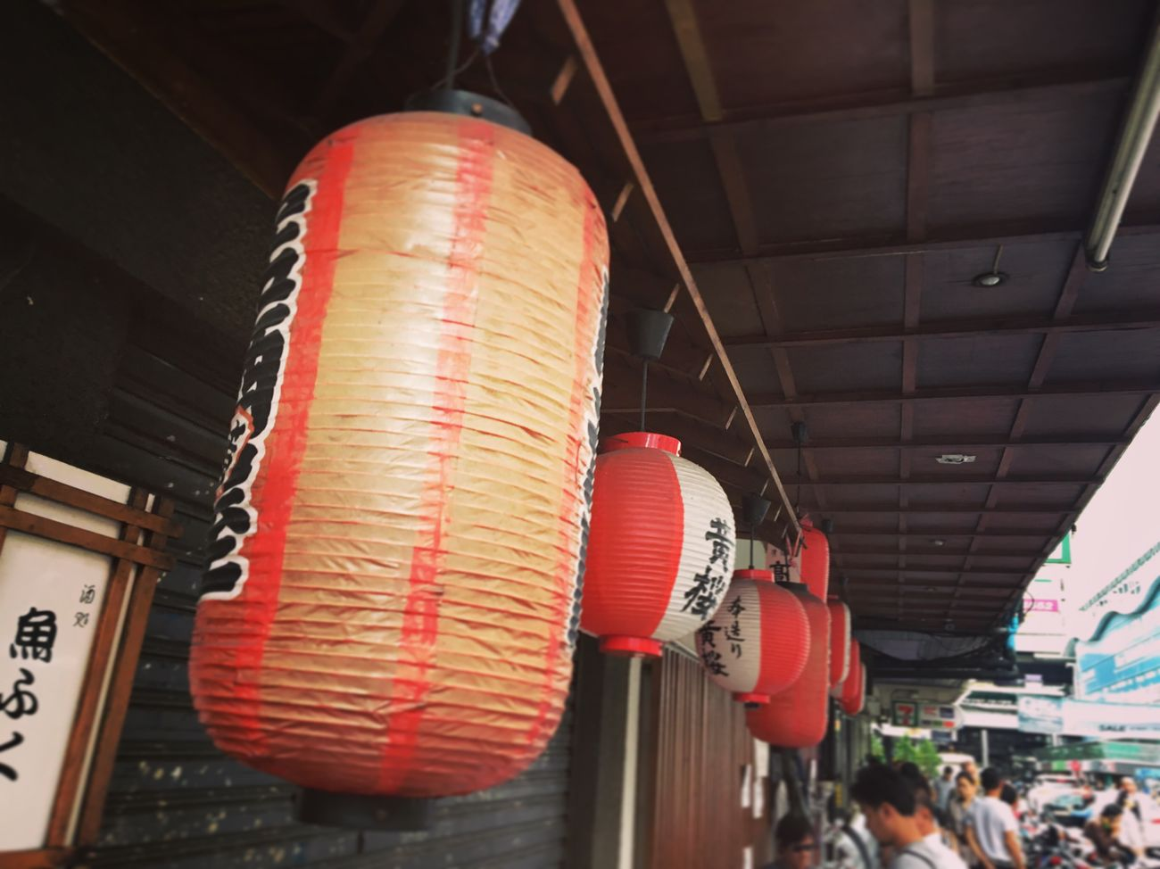 Red Hanging Architecture Built Structure Low Angle View Lantern Chinese Lantern Indoors  No People Day