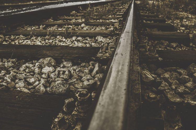 Railroad Track Rail Transportation No People Day Wood - Material Transportation Outdoors Railroad Tie Nature